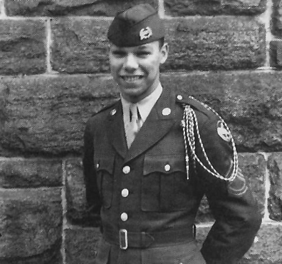 A young Colin Powell as an ROTC cadet at the City College of New York (1957)