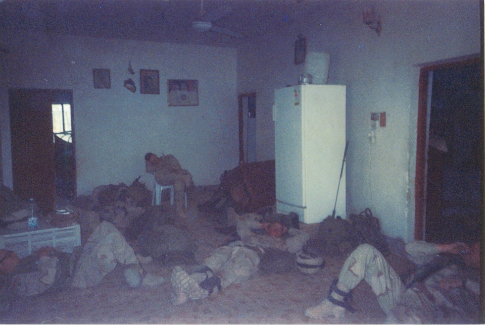 Paratroopers lounging in the farmhouse (As Samawah, April 1, 2003)