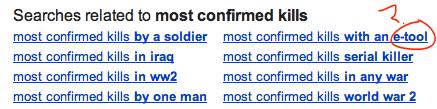 Most Confirmed Kills