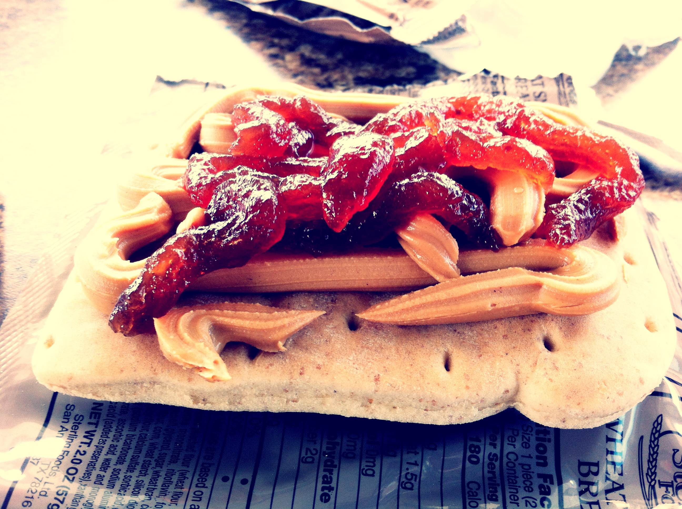 Peanut Butter, Strawberry Jam, and Wheat Snack Bread. Your argument is invalid.
