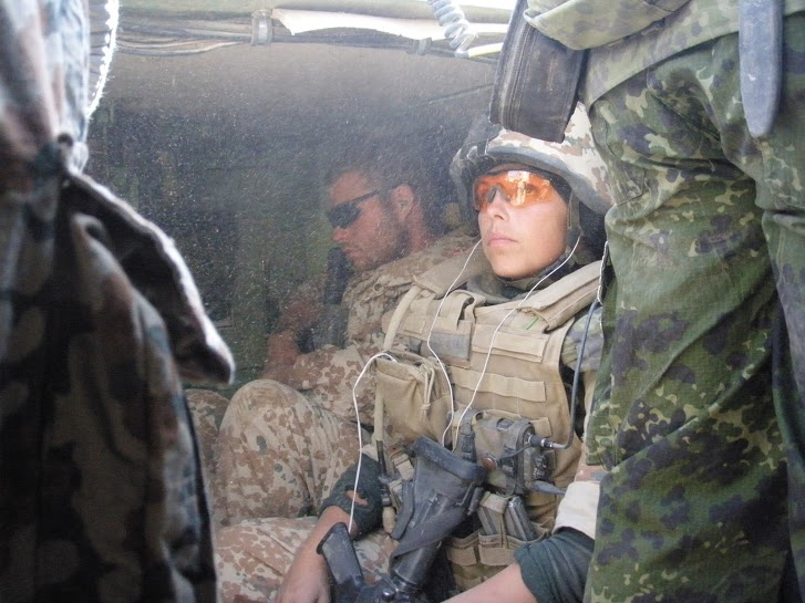 One of the author's soldiers, 'Karina,' during a deployment to Afghanistan in 2009.