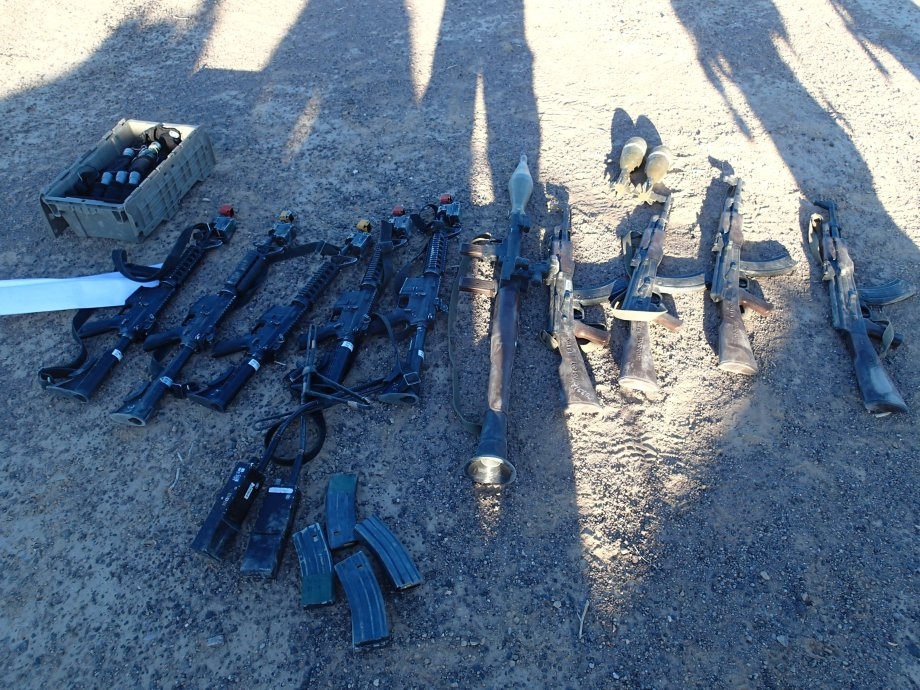 """""""Loot"""" gathered after conducting sensitive site exploitation during NTC."""