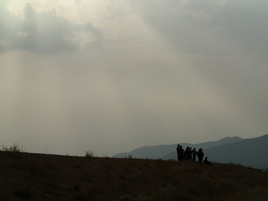 Soldiers on a hill
