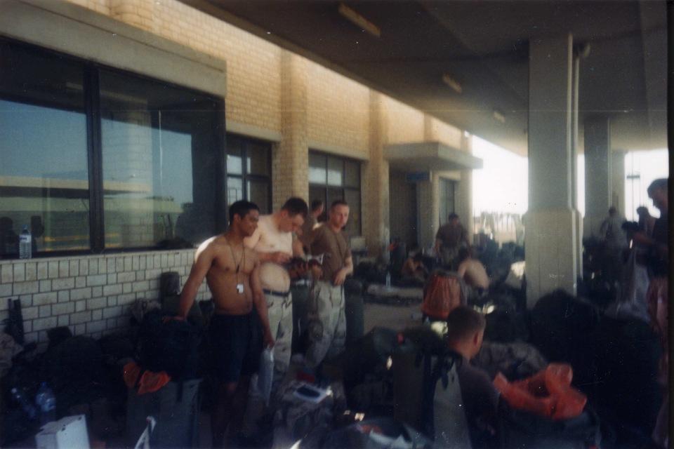 As Samawah train station, April 2003. We just got out B-Bags.