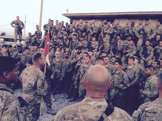 Leader Talking to Soldiers